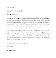 Leave Of Absence Letter Template For School Fresh Leave Letter ...