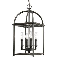 progress lighting p3884 20 4 light piedmont foyer lantern