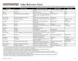 Streak Color Chart Stone Craft Color Reference Chart