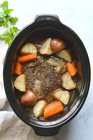 healthy crockpot pot roast gf low cal