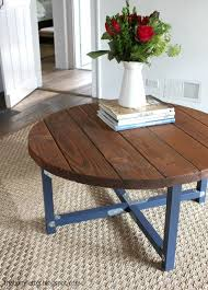 diy farmhouse dining table inspirational diy plans to build a round rustic coffee table top 2