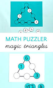 Math Riddles For Kids Math Puzzle With Magic Triangles Worksheets ...