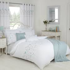 imogen duck egg luxury embroidered duvet cover