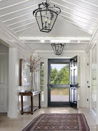 Traditional entry...love the large screen door.   Entryway ...