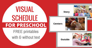 Using storyboard that, you can make lots of different visual schedules to support group play, daily routines or simple transitions such as first. Free Printable Visual Schedule For Preschool No Time For Flash Cards