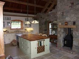 Stone Floors Kitchen Cottage Kitchen With Stone Floors In