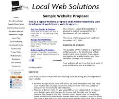Website Design Proposal Template Magnificent Web Design Project Proposal Template Proposal Template Free In