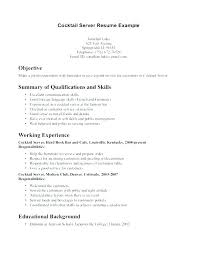 Server Resume Skills Cool Examples Of Bartending Resumes Resume Skills Bartender Resume