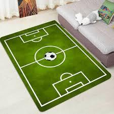 kids large bedroom football pitch floor rug nursery boys playmat carpet playroom