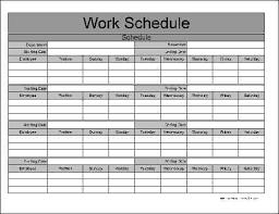 Work Schedule Spreadsheet Template Work Schedule Templates Word Excel Fomats