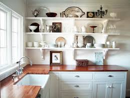 Kitchen Window Shelf Open Shelf Kitchen Design Attractive Open Wooden Shelves For