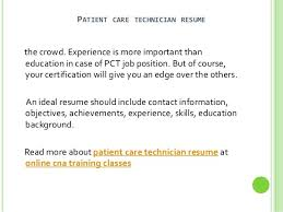 Patient Care Technician Resume With No Experience Dialysis Patient Care Technician Resume
