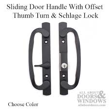 legacy glass sliding door handle set keyed with offset thumbturn schlage keyway choose