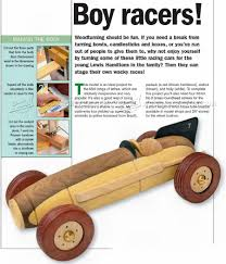wooden toy racing car plans