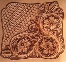 traditional pattern leather carving