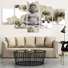 Paintings For Living Room Feng Shui Limited Edition Feng Shui Buddha Painting 5 Piece Canvas Project