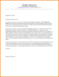 6 Engineering Intern Cover Letter Offecial Letter