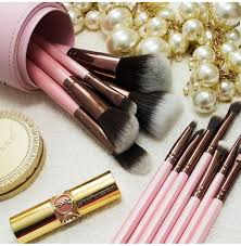 luxie makeup brushes. luxie rose gold collection synthetic 12 piece makeup brush set brushes