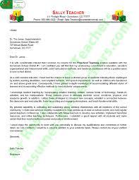 pre teacher cover letter sle