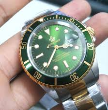 compare prices on reginald watch online shopping buy low price new reginald watch men gmt rotatable bezel stainless steel band green dial date sports quartz watches