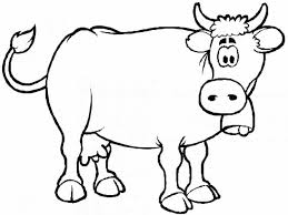 Small Picture Of Cows Cow Coloring Sheets Printable Pages Design For Kids Cow