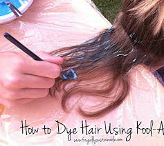 how to dye hair using kool aid a picture tutorial