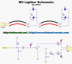 sickmods wii > lightbar schematics if you want the leds to be constantly on you can just connect tp52 to ground note though that you will loose the protection of the fuse on that side