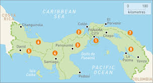 map of panama  panama regions  rough guides  rough guides