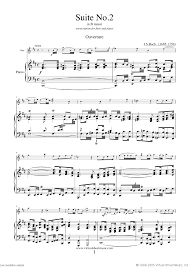 bach sheet music piano bach flute suite no 2 in b minor sheet music for flute and piano