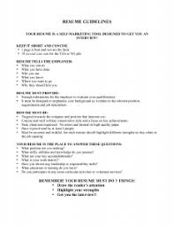... Amazing Resume Guidelines 4 Resume Guidelines ...