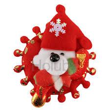 12pcs bag 8cm lovely silk cloth christmas tpiece colorful cartoon christmas decoration light up toys dog