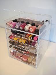 amazon acrylic makeup cosmetics organizer 5 drawer plus 1 lid beauty cube storage crystal s handles beauty