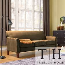 Uptown Modern Sofa by iNSPIRE Q Classic by iNSPIRE Q | Shopping ...  TRIBECCA HOME Uptown Peat Microfiber Suede Modern Sofa | Overstock.com