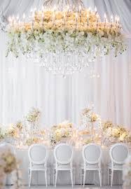 flower chandelier wedding
