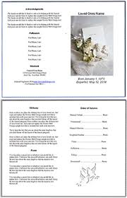 Memorial Pamphlet Template Free Editable Funeral Program Template Bravebtr