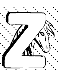 Small Picture Z Coloring Page