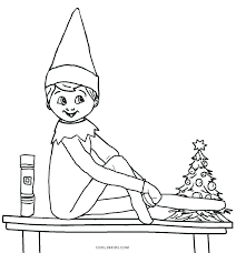 Free Printable Elf Coloring Pages Free Printable Elf Coloring Pages