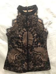 MDS Wendi black lace top, Women's Fashion, Clothes, Tops on Carousell