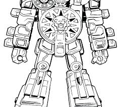 Megazord Coloring Pages The Is Ready To Fight Coloring Page Power