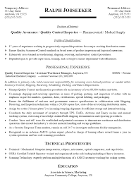qc inspector resume