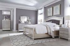 silver bedroom furniture sets. ashley furniture coralayne queen silver 6 piece bed set w/beveled glass b650 bedroom sets l