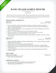 Sample Resume For A Bank Teller Amazing Bank Teller Resume Sample And Entry Level Bank Teller Resume