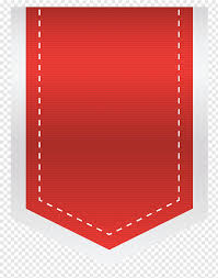 Png Label Design Red Design Heart Pattern Red Empty Sale Label Free Png