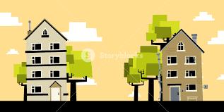 2 Cartoon Houses Royalty Free Stock Image Storyblocks Images
