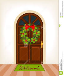 open front door illustration. Simple Door Christmas Door Clipart To Open Front Illustration
