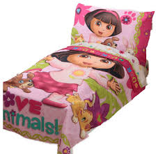 dora explorer toddler bedding set love animals bed