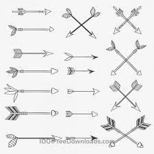手描きのヴィンテージベクター矢印イラストのセット12種類入り All