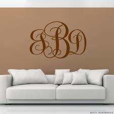 monogram wall decals monogram and personalize your walls