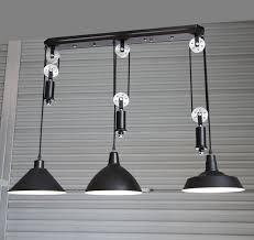 pulley pendant lighting. Adjustable DIY Silver Pulley Pendant Lamp Dining Room Bar Retro Lights Club Salon Vintage Industrial Lighting Y