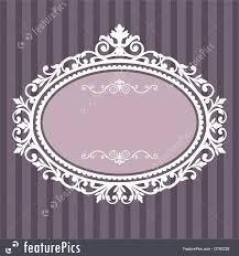 vintage frame design oval. Decorative Oval Vintage Frame Royalty-Free Stock Illustration Design